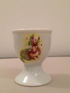Egg Cup - 1970's Vintage With Rabbit Print
