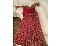 Red traditional Asian Wedding Dress