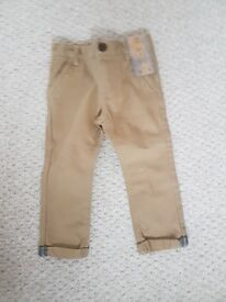 New Boys F&F Chinos Age 2 / 18-24 Months