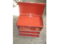 Halfords 4 drawer Metal Toolbox