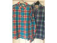 2x men's/boys small Hollister shirts