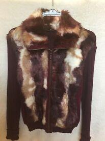 Fake fur jacket/ cardigan approx size 16