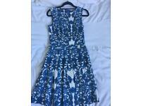 Women's Blue & White Skater Dress by Closet - Size 8