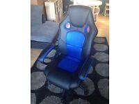 Black & Blue Gaming Chair