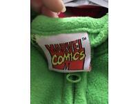 Large men's hulk onesie