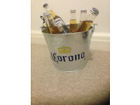 Corona Extra Galvanised Ice Bucket with 2 beers included-from a free smoke place