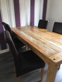 Solid Mango Wood Dining Table. BARGAIN