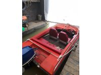Speed boat and trailer (DOES NOT INCLUDE OUTBOARD)