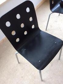 6 black preloved Ikea chairs