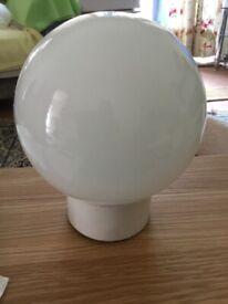 100w Opal Glass Sphere Light Fitting