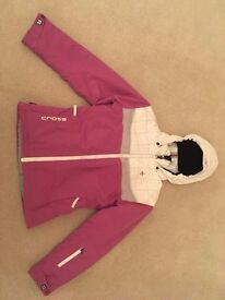 GIRLS 'CROSS' SKI JACKET + 'PROTEST' SALOPETTES - SUPERB CONDITION, BOTH HARDLY USED