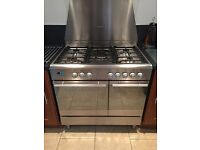 Range Cooker - 5 gas hobs and fan oven