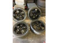 """17"""" 5 stud Vauxhall Alfa Fiat Saab alloys with tyres set of 4"""
