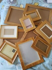 Selection of wooden photograph frames