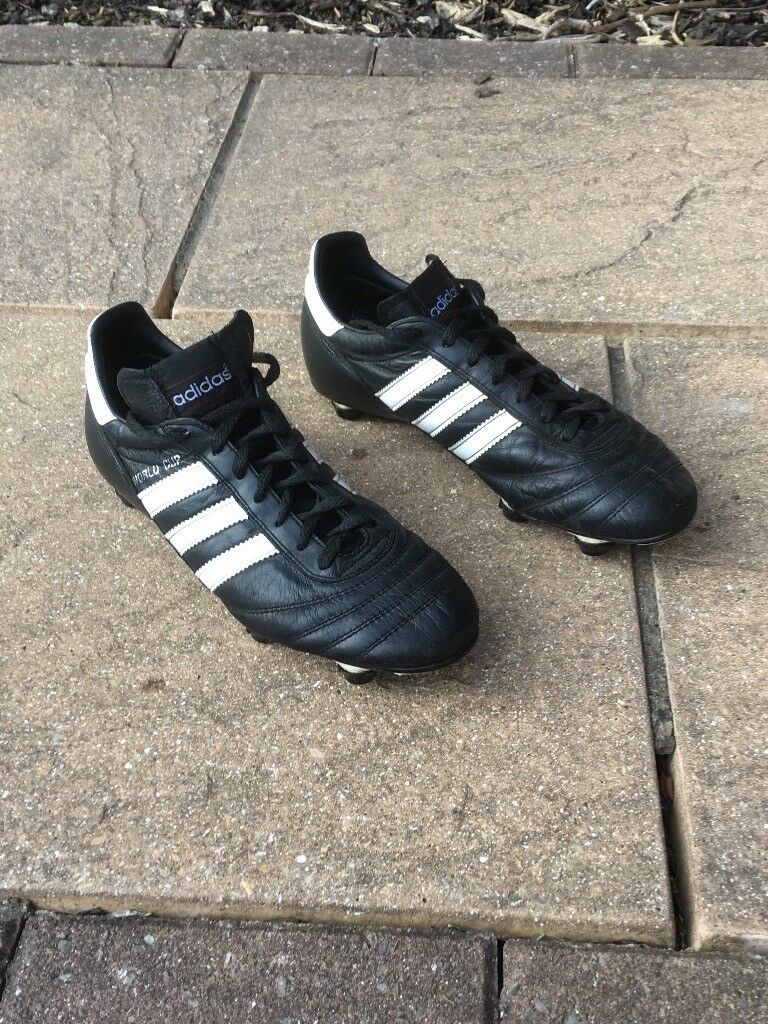 Size 8 boys black & white football boots