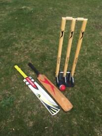 Cricket wicket, bat & ball for Sale £40