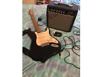 Fender squire strat & practice amp