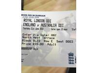 England v Australia today tickets