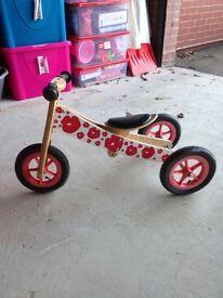 Girls trike/balance bike