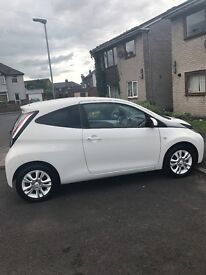 New shape Toyota Aygo X-Pure 65 plate 5080 miles. White limited addition. 3 years warranty remaining