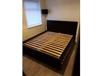 IKEA MALM *King Size* Bed Frame, High, Black-Brown RRP £200