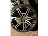 Lenso Conquista x4 20inch alloys with tyres