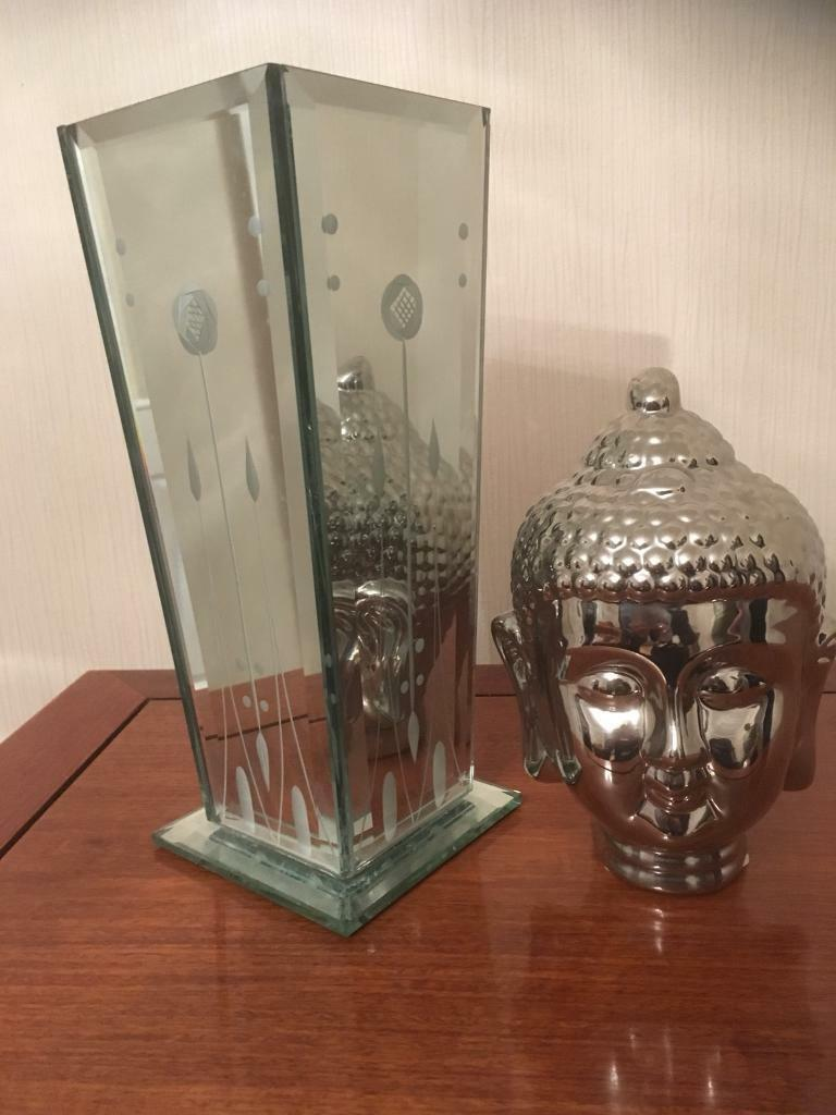 Rennie Mackintosh vase and Buddha bust