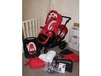 Unique customised OBABY ZEZU multi TRAVEL SYSTEM w/ NEW double kit, buggy board-sgl/double pushchair