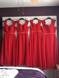 Bridesmaid dresses x 4