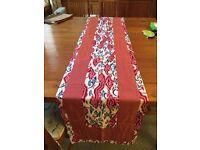 Beautiful table runner made of Indonesian Batik and silk