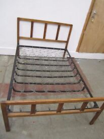 Antique Sprung Double Bed Base 4/4/17