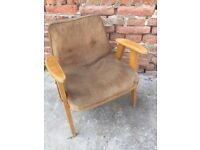 Original Vintage Polish Easy 60s CHAIR Quirky Furniture Seat Retro Decor Mid-Century