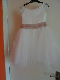 FLOWER GIRL'S DRESS WITH SHRUG (AGE 2-3)