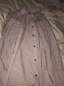 Men's Next Shirt - Regular Fit - Checkered Print - Used - Cheap Price - Size 15