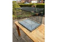 Collapsible metal dog kennel cage