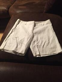 White shorts river island size 8