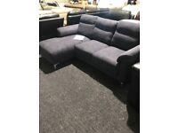 Brand new navy corner sofa