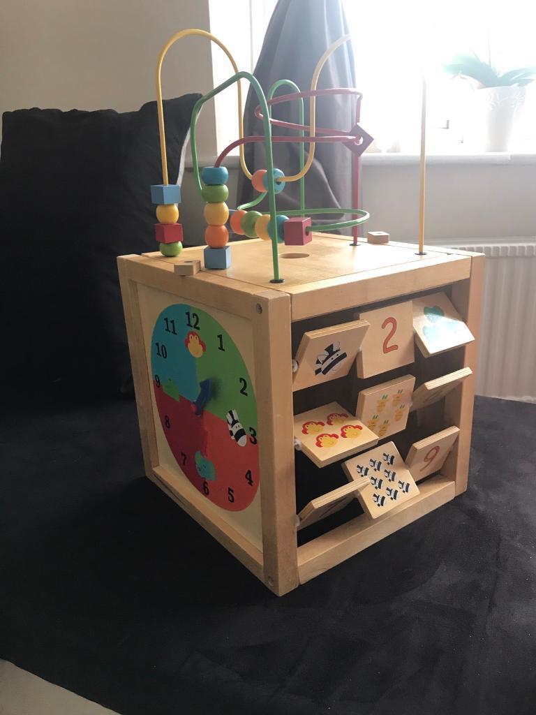 Wooden Multi-Activity Cube