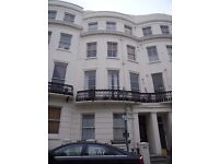 A large one bedroom lower ground floor flat, with a private rear patio area. Located in central Hove