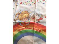 Rainbow Brite duvet cover and pillow case