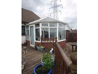 For sale 12x10 white victorian style double glazed conservatory