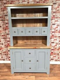 Rustic Welsh Farmhouse Dresser made from Chunky Rustic Hardwood