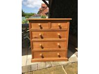 QUALITY PINE CHEST OF DRAWERS