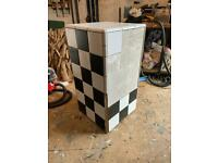 Free Display Plinth - Tiled Box - Possible Seat or chair