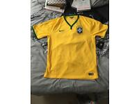 Brazil Football Shirt. Size L