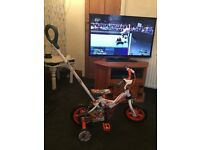 Boys 10 inch first bike with handle