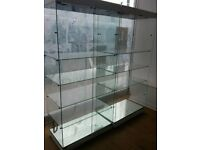 Glass showcase display cabinet - shopfittings / shop fittings