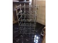 Wine rack chrome metal