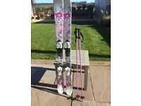 Girls KS2 skis and poles