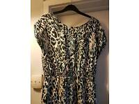 Leopard print playsuit jumpsuit catsuit size 10 by Ribbon